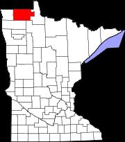 Roseau County MN Map